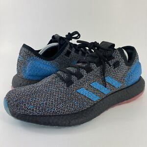 Adidas PureBoost LTD Reflective Black/Blue/Red Running Shoes Men's Size 10