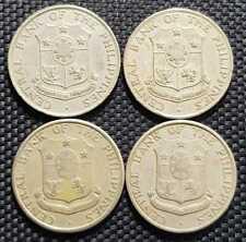 1958-1966 PHILIPPINAS 25 Centavos Coin,KM#189, 4Pcs ,Ø24mm (+FREE1 coin) #12157