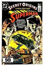 SECRET ORIGINS #1 NM- Golden-Age SUPERMAN! Action Comics #1 Homage Cover DC 1986