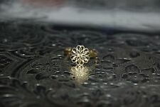 Vintage Flower Style 14K Yellow GOLD Ring - Size 9 -