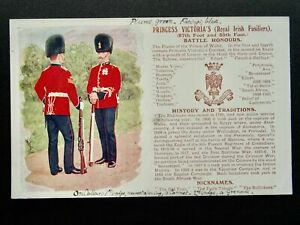 History & Tradition THE ROYAL IRISH FUSILIERS Postcard by Gale & Polden No.98