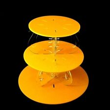Tres Niveles Cisne TRANSPARENTE Pilares Diseño Redondo Soporte De Tarta -