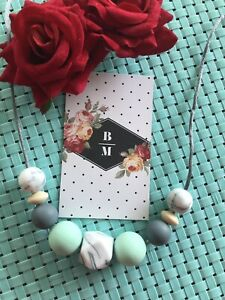 Silicone Sensory Necklace for Mum (was teething) Baby Gift Beads Aus Sell New