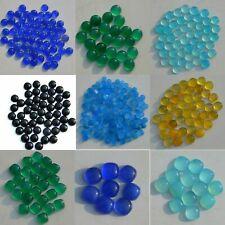 Natural Blue Aqua Green Black Chalcedony Round Cushion Cabochon Gemstone Lots