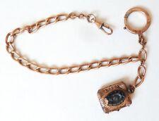 Chaine de montre à gousset 19e siècle avec médaillon porte-photo fer à cheval