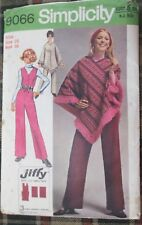 SIMPLICITY SEWING PATTERN No. 9066 Ladies Poncho & jumpsuit size 16 vintage