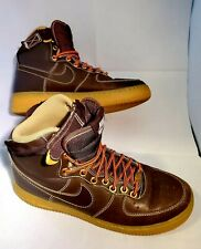 NIB Nike Youth Air Force 1 High GS Brown Basketball Shoes 744379-190  Size 6.5Y