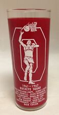 Vintage 1961 Ohio State Buckeyes Basketball Glass Fred Taylor Havlicek / Lucas