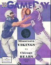 Minnesota Vikings Chicago Bears Program 12/20/10 NEW Brett Favre's Last Start