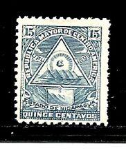 Nicaragua Stamps- Scott # 109H/A12-15c-Mint/H-1897-NG