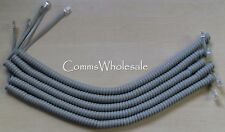 Meridian Norstar Option Nortel BCM Handset Curly(Coiled)  Cord Grey x 5