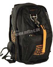 MIL-TEC Deployment Bag 6 schwarz Air Force Einsatz Rucksack Schulrucksack