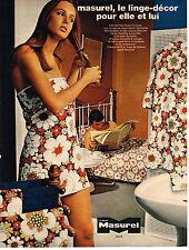 PUBLICITE   1970   ALBERT MASUREL   le linge décor draps serviettes de bain