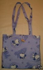Purse Tote Bag Handmade with Hello Kitty Cheer Leading Cotton Fabric Handbag