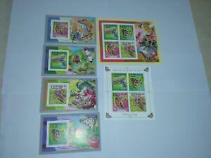 Chad 2012 Butterflies 2620-2623 BL488-491