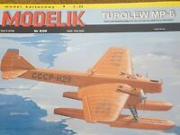 "GENUINE PAPER-CARD MODEL KIT - ""TUPOLEW"" MP-6"