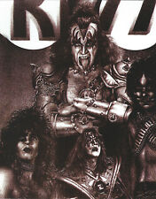 KISS GENE SIMMONS 8 X 10 PHOTO ART WITH ULTRA PRO TOPLOADER