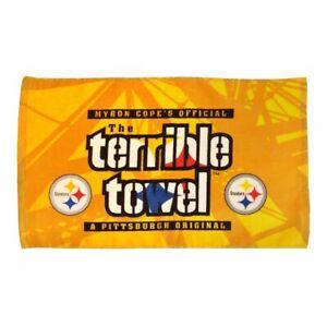 Pittsburgh Steelers Steel Beam Terrible Towel Black and Gold