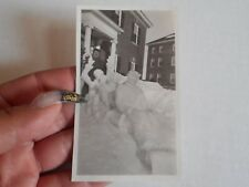 Vintage Photo Colby College Snow Sculpture With Woman