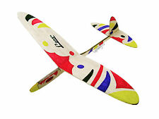 Lanyu Hand Launch Balsa Wood Glider Plane DIY Build&Paint Model Kit, US 8015