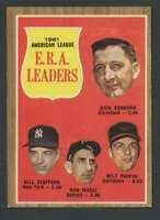 1962 Topps #55 Donovan/Stafford/Mossi/Pappas EXMT/EXMT+ A.L. E.R.A. Leaders 2066