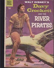 FOUR COLOR  #671 1955  DELL -DAVY CROCKETT:RIVER PIRATES 'WALT DISNEY' FRONTIER