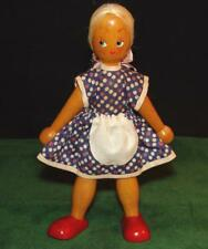 Vintage Artist Made Hand Painted Wooden Doll - Jointed - 1970's
