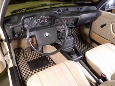 BMW E21 Checkered Custom Made Car Floor Mats 2 Piece Set