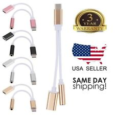 USB Type-C To 3.5mm Jack AUX Headphone Audio Splitter Converter Adapter Cable