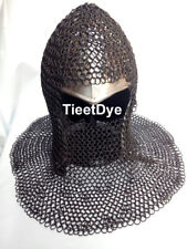 Chain mail Coif U-neck Chainmail Armour Chain-mail hood Black Ant