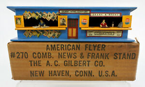AMERICAN FLYER S SCALE 270 NEWS AND FRANK STAND WITH ORIGINAL BOX