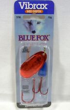 Blue Fox Super Vibrax Lure 7/16 Bleeding Silver Blue Treble Siwash Red Hook