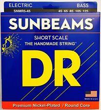 DR SNMR5-45 Sunbeams Bass Guitar Strings 5-Strings set short scale gauges 45-125