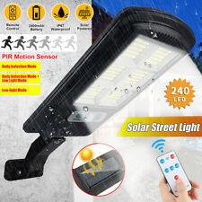 240LED Outdoor Solar Street Wall Light Sensor PIR Motion LED Lamp +Remote Garden