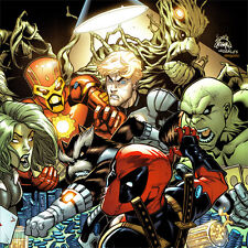 DEADPOOL Signed ART PRINT Guardians of the Galaxy #1 VARIANT COVER Ryan Stegman