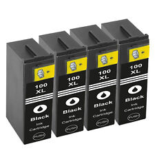 4 Black Ink Cartridges For Lexmark 100XL S815 S605 S505 205 S305 S402
