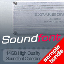 16GB SOUNDFONT LIBRARY 6200 INSTRUMENTS HIGH QUALITY SF2 SAMPLES BEST VALUE EVER