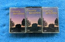 COUNTRY MEMORIES 3 Cassette Tape Set Compilation