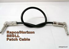 "Rapco Horizon (SEGLL-3) 3 Foot Patch Cable. Right angle 1/4"" - Right angle 1/4"""