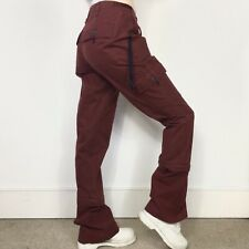 Abercrombie & Fitch Cargo Pants S 8 10 Tomboy Dickies Maroon Red Punkyfish y2k