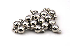 Strong magnetic  silver 6mm clasp jewellery craft necklace bracelet 2mm holes