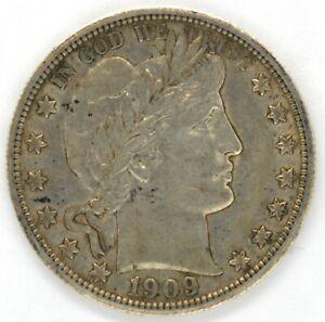 1909 Barber Half Dollar 50 Cent US Coin High Grade United States Philadelphia