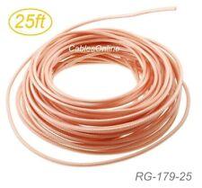 25ft RG179 Bulk 75 Ohm High Temperature SDI-Video Coax Cable, RG-179-25