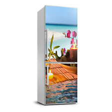 3D Art Refrigerator Kitchen Removable Sticker Magnet Flowers Orchid and bamboo
