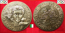 OLYMPISCHE SPIELE VII. OLYMPIC WINTER GAMES MEDAL Ø 50mm * CORTINA 1956 * ITALIA
