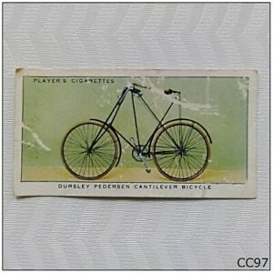 Player Cycling #26 Dursley Pedersen Cantilever Bicycle Cigarette Card (CC97)
