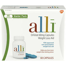 Alli Orlistat 60mg Weight Loss Aid  Starter Pack, 60 Capsules