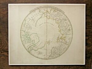 1799 North Pole Robinson Crutwell N America Indians NW Passage Closed Russia Map