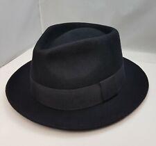 Mens Short Brim Black, Camel Brown high Quality 100% Wool Felt  Fedora Hat UK