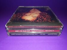 LOT OF 5 JANET JACKSON CD'S - I GET LONELY VELVET ROPE RHYTHM NATION 1814CONTROL